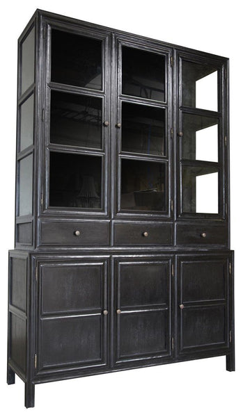 Palmer Colonial Hutch, Hand Rubbed Black - Intrustic home decor