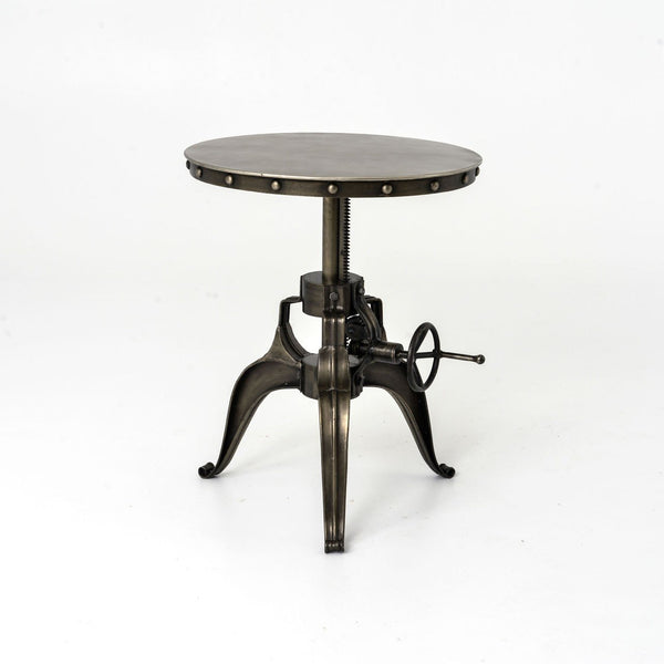 "Alannis Industrial Crank 22"" End Table FH22220 - Rustic Edge"