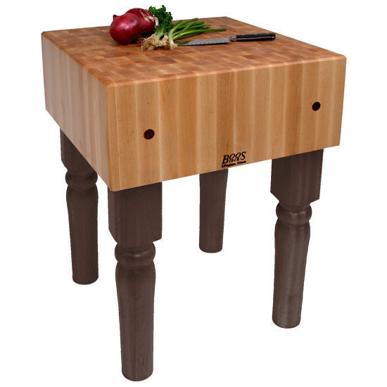 "John Boos AB 10"" Maple Butcher Block Table/Island 24"" x 24"" x 34"""