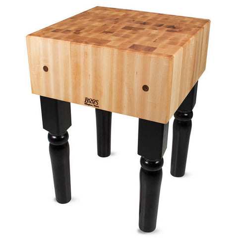 "John Boos AB 10"" Maple Butcher Block Table/Island 30"" x 30"" x 34"""