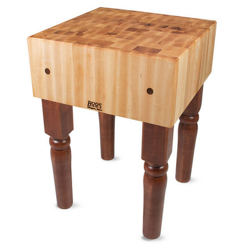 "John Boos AB 10"" Maple Butcher Block Table/Island 30"" x 24"" x 34"""