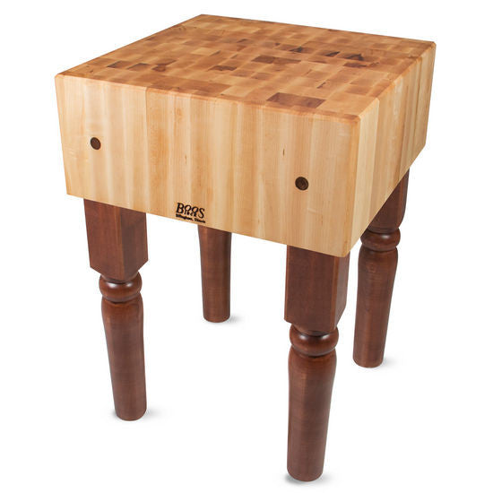 "John Boos AB 10"" Maple Butcher Block Table/Island 24"" x 18"" x 34"""