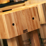 "John Boos 10"" Thick ""PCA""  Kitchen Butcher Block & Wood Knife Holder, 34"" High"
