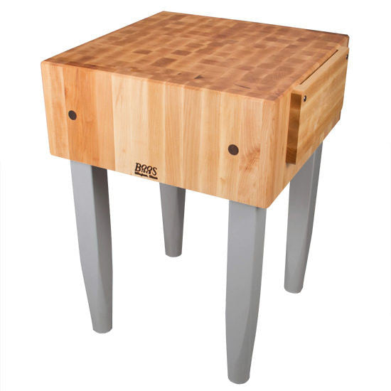 "John Boos 10"" Thick  PCA5  Kitchen Butcher Block & Wood Knife Holder, 30""x 30"""