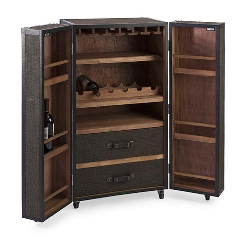 Schultz Stylish Rolling Wine Trunk