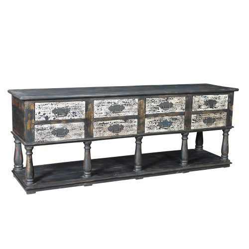 Autumn-Elle Design Monita 8 Drawer Kitchen Sideboard/Server ME82467 - Rustic Edge