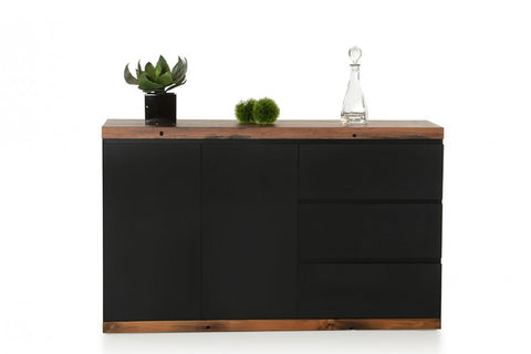 Modrest Norse Modern Black & Ship Wood Buffet by VIG Furniture