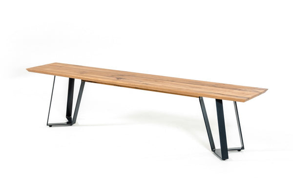 "Somod 87"" Oak Dining Table with Metal Base"