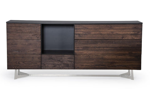 Modrest Wharton Modern Dark Aged Oak Buffet by VIG Furniture