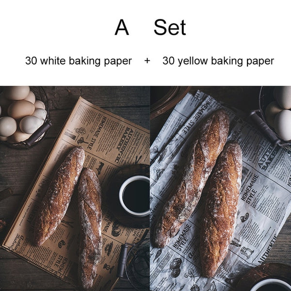 Reusable Non-stick Baking Paper Vintage Newspaper