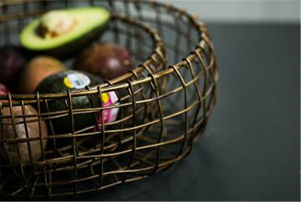 Vintage Style Metal Wrought Iron Storage Basket