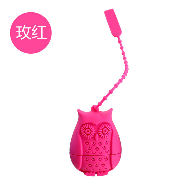 Owl Tea Bags Strainers Silicone Filter Infuser