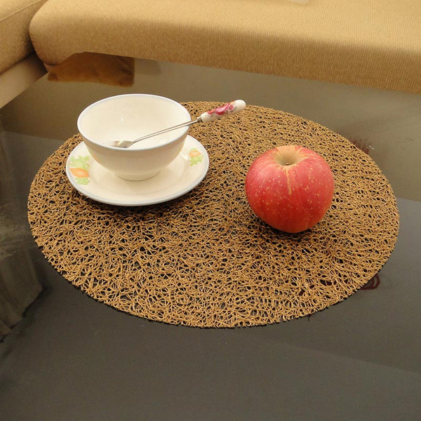 Round Rustic Multi-color Placemats