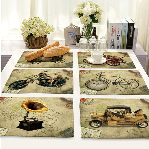 Retro Bike/Motorcycle/Classic Car Placemats
