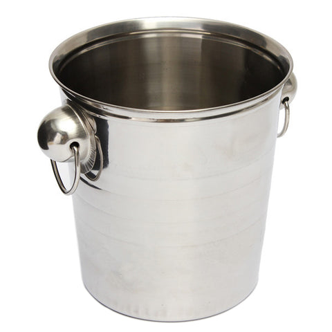 Silver Stainless Steel Ice Bucket