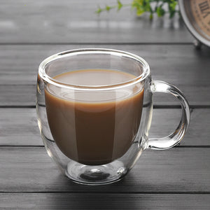 Insulated Double Wall Glass Mug