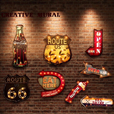 Vintage LED Light Neon Signs