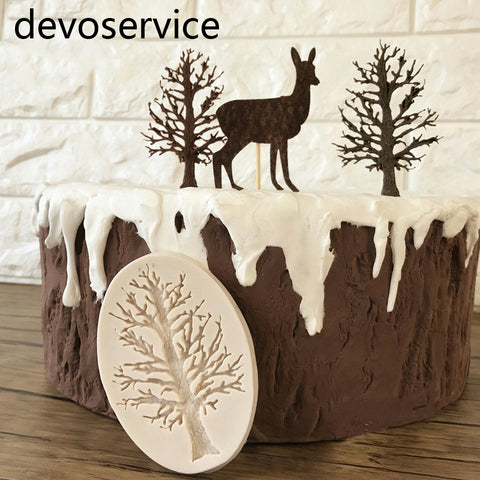 DIY Cake Tree Border Silicone Molds