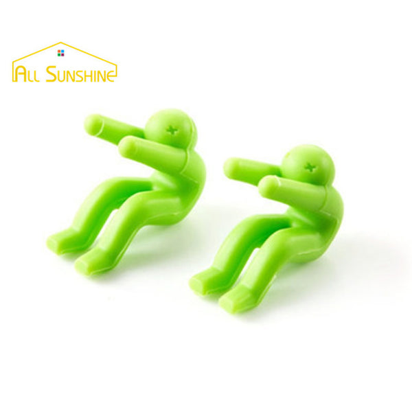 2Pcs Little Man Shaped Silicone Spill-proof Raising Pot Cover - Rustic Edge