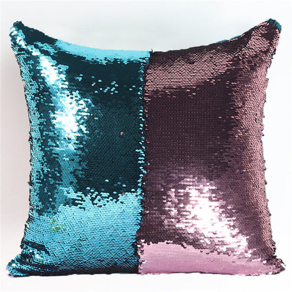 Mermaid Color Changing Sequin Pillow Cover Case
