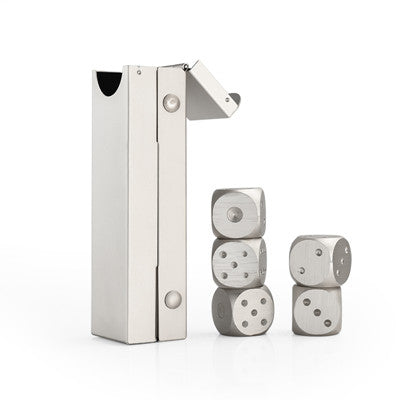 Aluminum Dice Shape Whiskey Stones - Rustic Edge