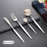 4 Pcs/Set Rose Gold Dinnerware - Rustic Edge