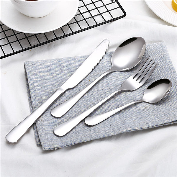 Gold Dinnerware Set Stainless Steel Cutlery Set 4 Pieces