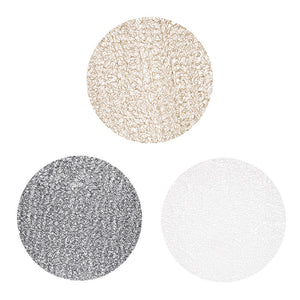Round Multi-color Weave Look Placemats