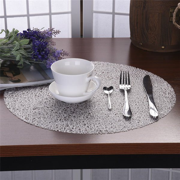 Transparent Crystal / Lace Look Placemats
