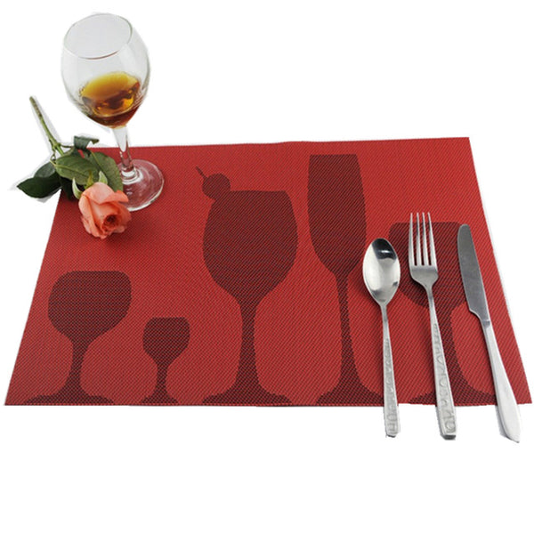 Wine Glass Pattern Placemat