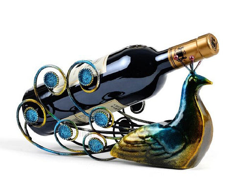 Peacock Wine Holders Wine Rack