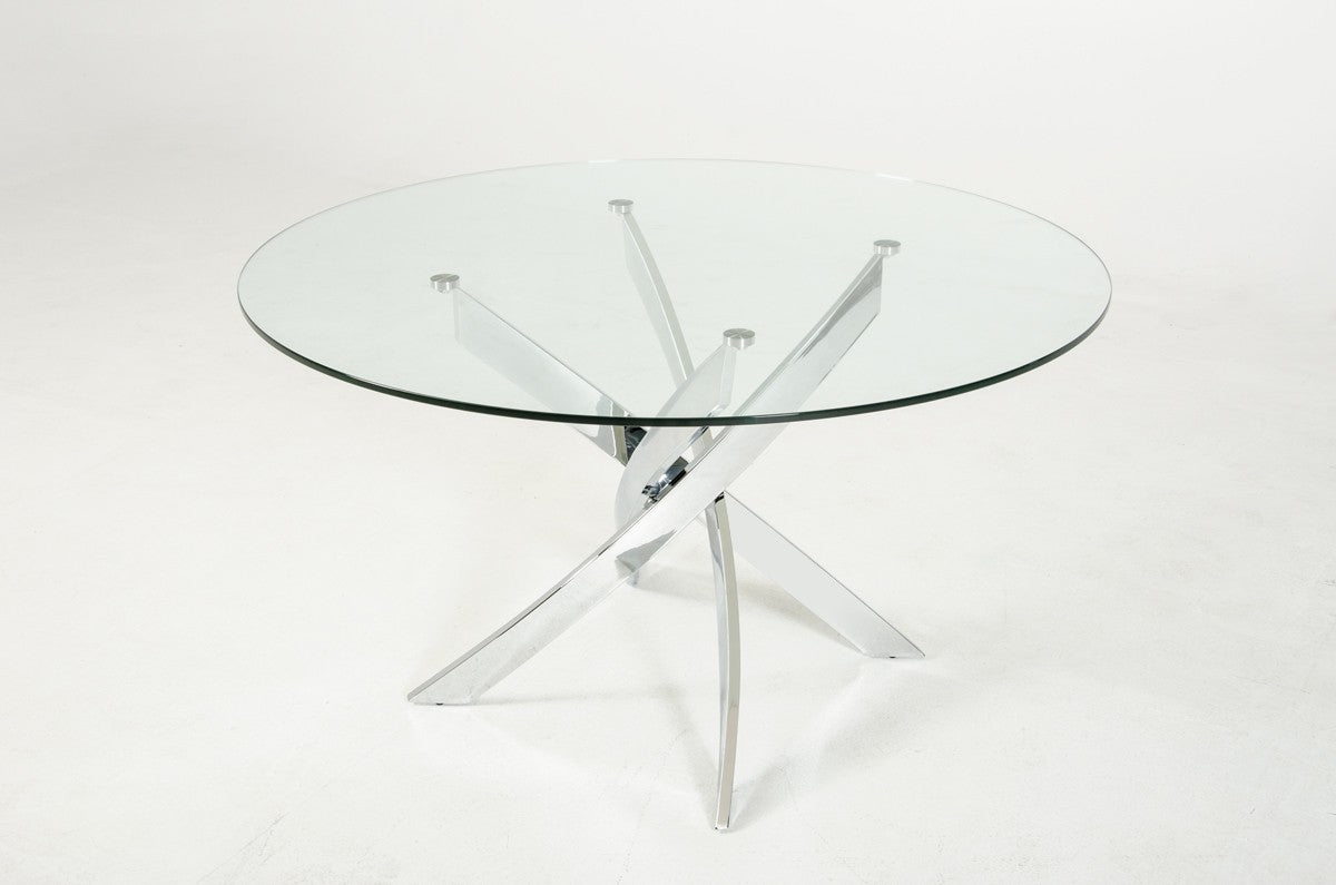Galaxy Glass Dining Table - Rustic Edge
