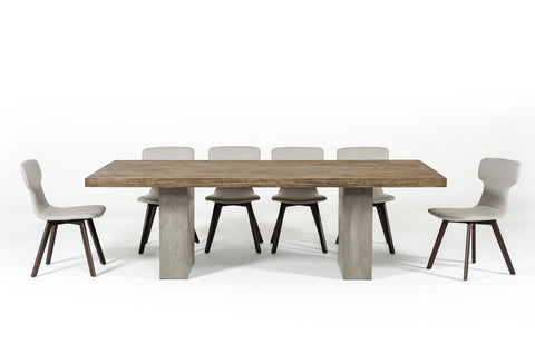 ... Modrest Renzo Modern Oak U0026 Concrete Dining Table By VIG Furniture ...