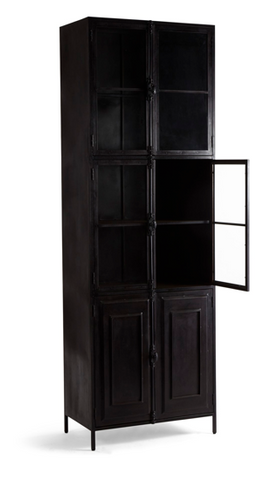 Autumn Elle Aislinn Double Vitrine Hutch 31517 - Rustic Edge