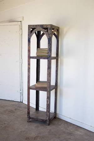 Kalalou Rustic Recycled Iron Tall 4 Tiered Shelf/Bookcase NGN1184