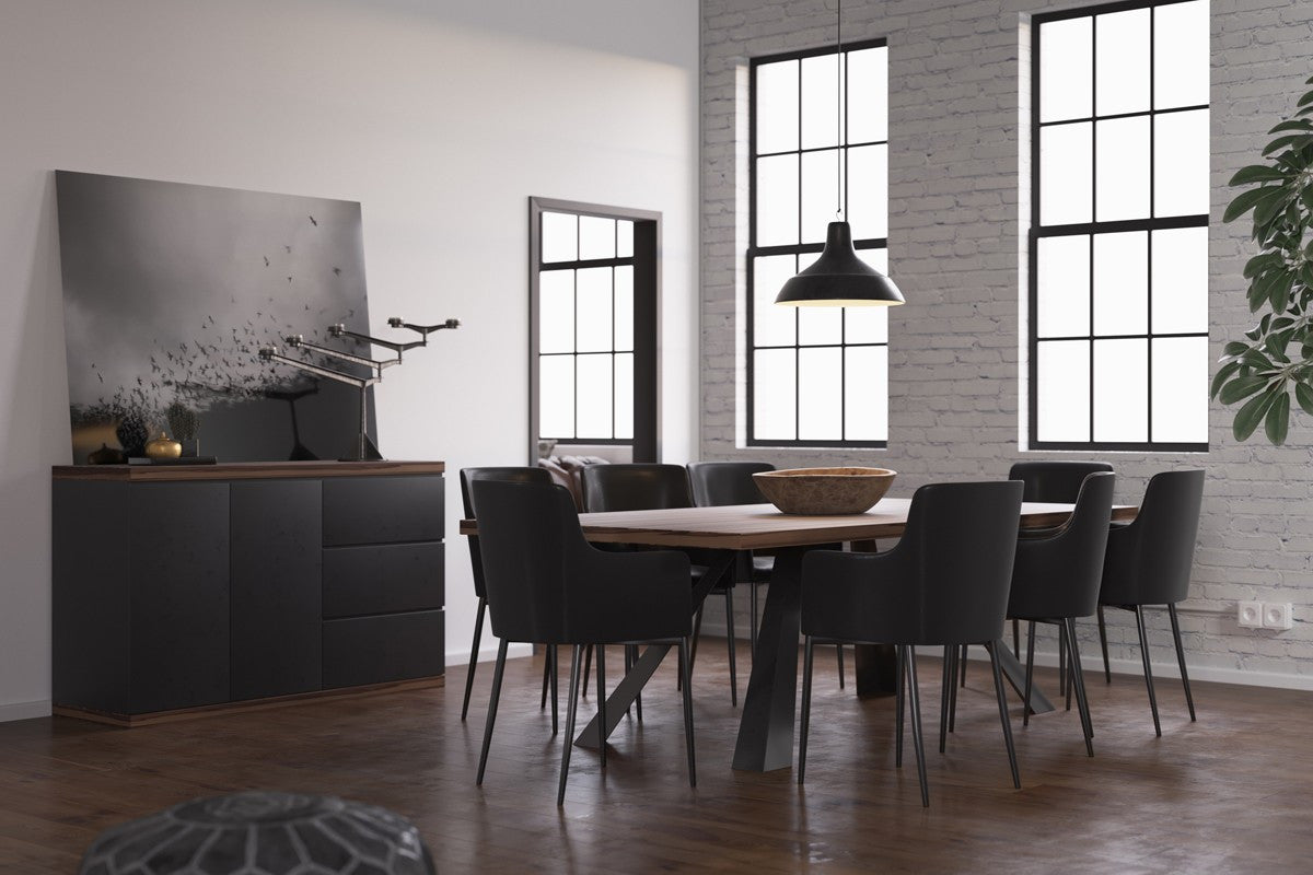 Modrest Norse Modern Ship Wood  Dining Set with Buffet and Chairs by VIG Furniture