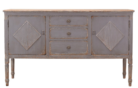 Autumn Elle Designs Talya Kitchen Island w/2 Doors & 3 Drawers S7848D - Rustic Edge