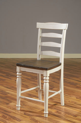 "Sunny Designs 1432FC-24W Bourbon County Ladderback 43"" Stool"