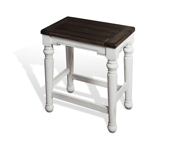 Sunny Designs 1433FC-24W Bourbon County Backless Stool