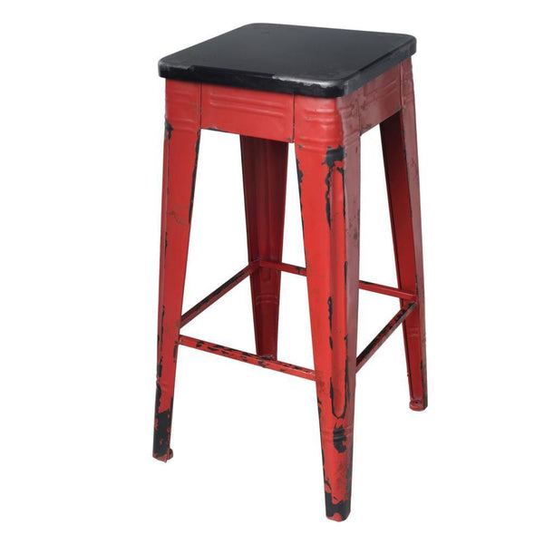 Marvelous Red Metal Farmhouse 26 Counter Bar Stool Cjindustries Chair Design For Home Cjindustriesco