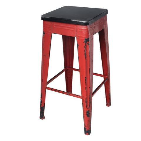 "Red Metal Rustic Farmhouse 26"" Counter/bar stool - Rustic Edge"