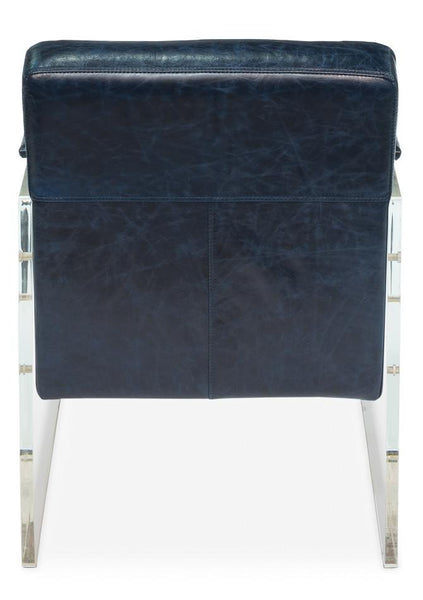 Hardwin Acrylic Arm Chair Blue - Intrustic home decor