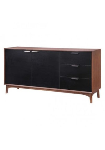 Bourne Mid Century Sideboard Walnut and Black - Rustic Edge