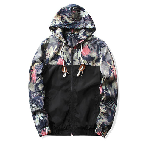Silent Forest Floral Windbreaker