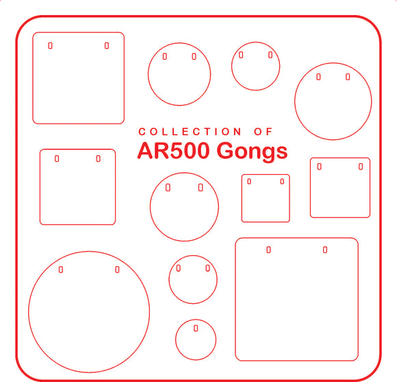 AR500 Steel Targets, Round or Square