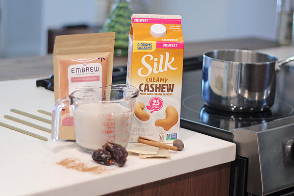 Silk Cashew Nog Infused with Chai