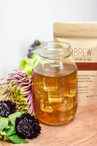Amber Black Maple Cold Brew Iced Tea