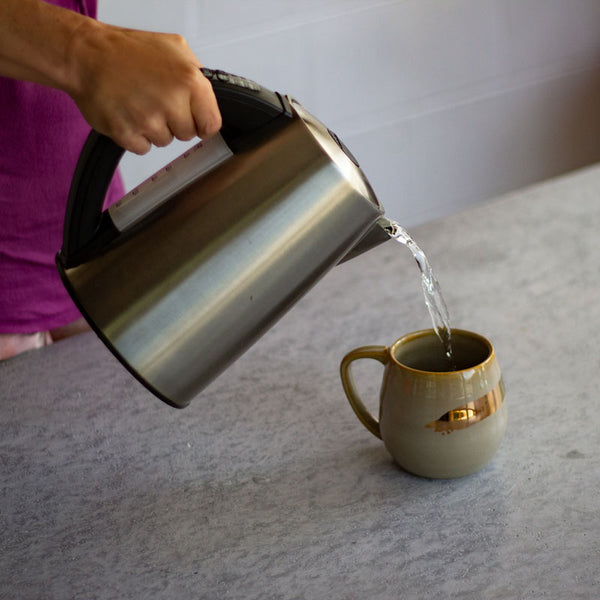 Preheat your mug pour hot water