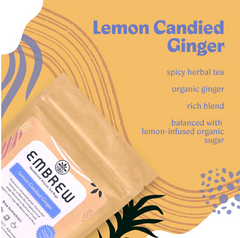 Embrew's Lemon Candied Ginger value propositions.