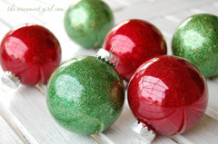 Glitter Glue Clear Ornaments DIY